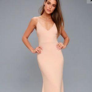 Lulu's Infinite Glory Maci Dress in Blush